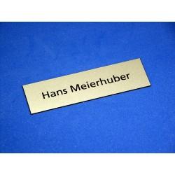 Einlage einzeilig graviert zu Namensschild 1503 Schriftart Frutiger