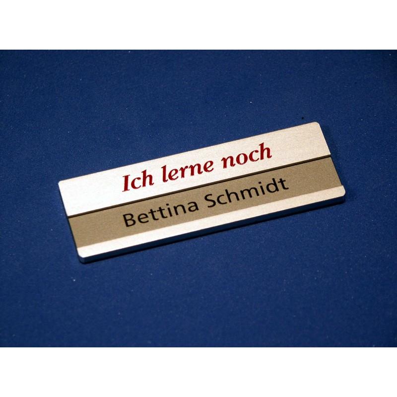 Aluminium Namensschild