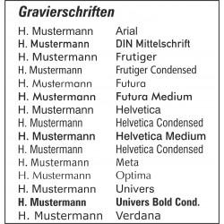 Namensgravur Namensschild GS