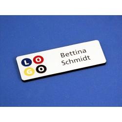 """""""digi-print"""" Namensschild Modell GS weiss matt"""