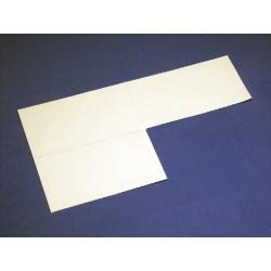 Papier-Einlage weiss Grösse 64x22mm