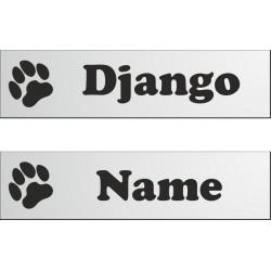 Namensschild für Hundebox 280x70mm mit
