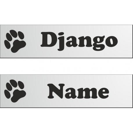 Namensschild für Hundebox 280x70mm