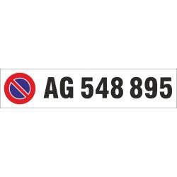 Parkplatz-Schild Aluminium 450x100x2,0mm einzeilig beschriftet