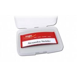 Single-Box Aufbewahrung für Namensschilder