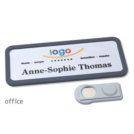 Namensschild OFFICE® 30 Farbe anthrazit mit Magnet standard