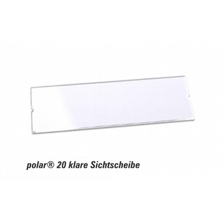 Sichtscheibe polar® 20 - 64x22mm Ersatzkomponente glasklar im 10er Pack