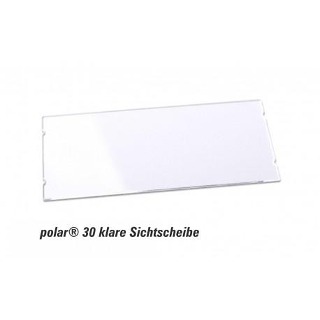Sichtscheibe polar® 30 - 65x30mm Ersatzkomponente glasklar im 10er Pack