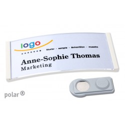 "Namensschild polar® 35 ""color"" 80x34mm weiss"
