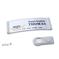 "Namensschild polar® 20 ""color"" 68x22mm hellgrau"