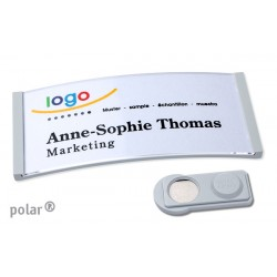 "Namensschild polar® 35 ""color"" 80x34mm hellgrau"