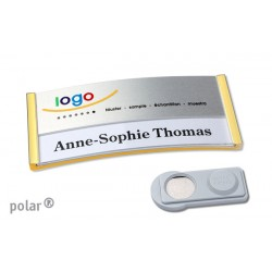 "Namensschild polar® 30 ""metal combi-print"" 70x30mm gold"