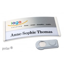 "Namensschild polar® 35 ""color combi-print"" 80x34mm weiss"
