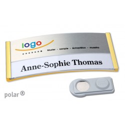 "Namensschild polar® 35 ""metal combi-print"" 80x34mm gold"